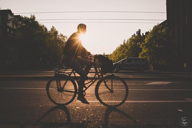 bike, sunny, day, spring