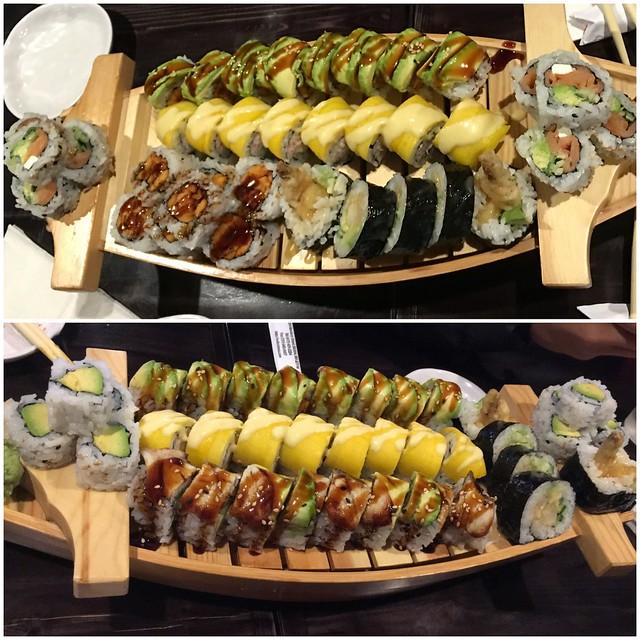 Sushi overload at Wabora