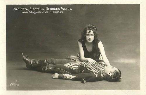 Georges Wague and Marietta Ricotti in L'Aragonaise