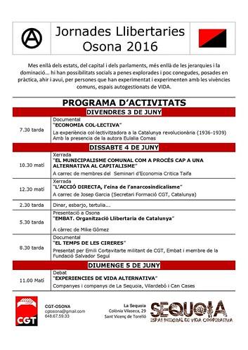 Jornades Llibertàries de CGT Osona 2016