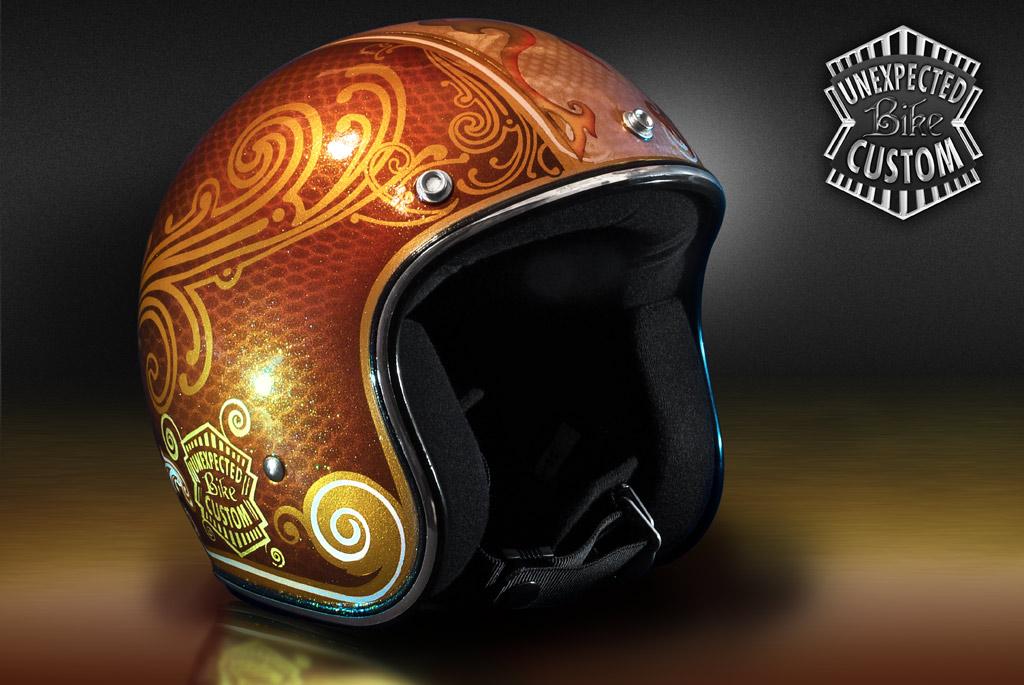 Custom helmet gold whisky a photo on flickriver for Metalart polen