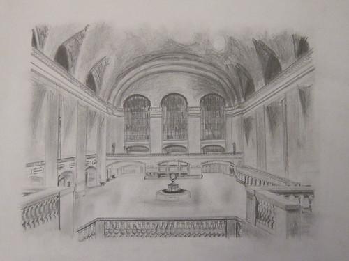 Grand Central Station, New York. Lápiz sobre papel. Nov.2011
