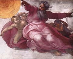 Miguel Angel (1511), Dios creador