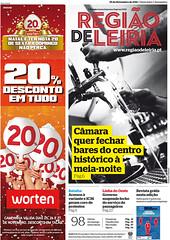 Capa Regiao de Leiria edicao 3897 de 25 Novembro 2011