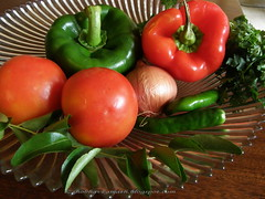Capsicum & Tomato Dip - ingredients