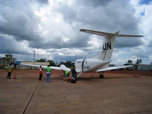 plane airport un congo drc rdc mbandaka