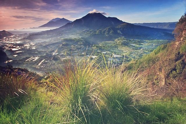 BATUR MOUNTAIN, ABANG MOUNTAIN and AGUNG MOUNTAIN