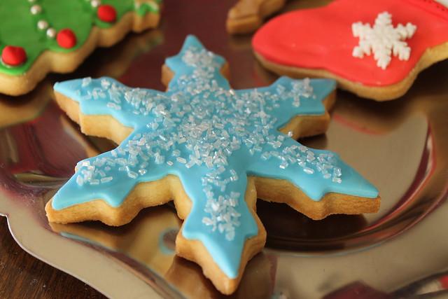 galletas decoradas de navidad - estrella azul