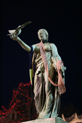 Statue with scarf