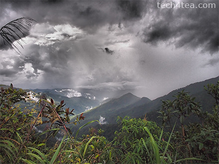 View from Base HQ of Mount Kinabalu. Taken with Dramatic Tone Art Effect on the Olympus PEN E-P3.