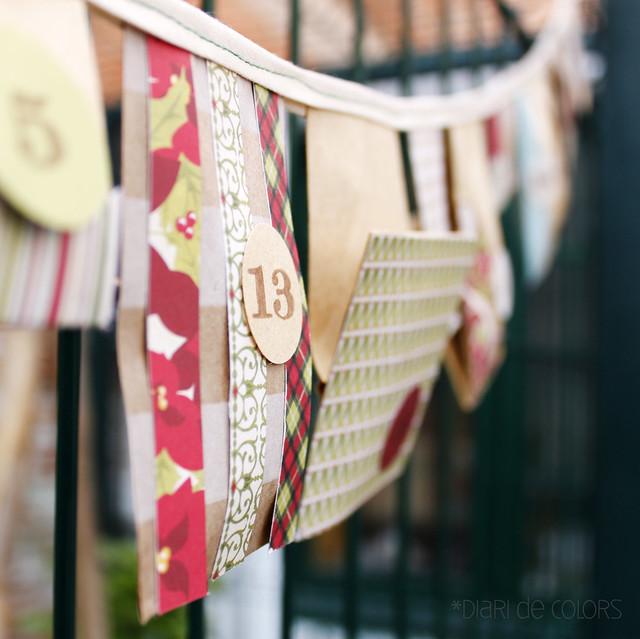 """Calendario de adviento """"handmade"""""""