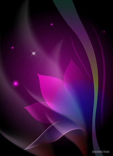 Purple Abstract Floral Design