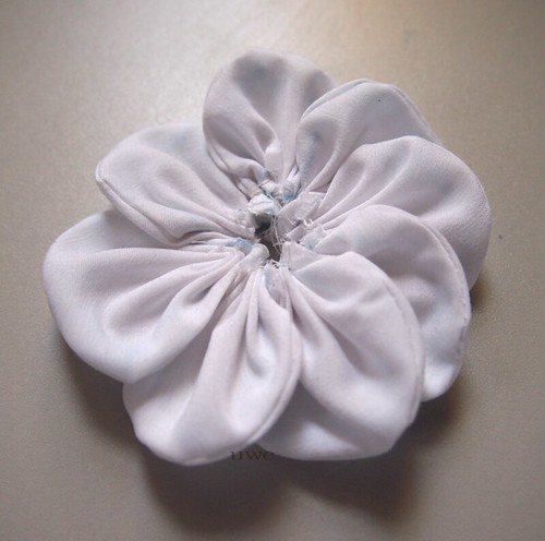 Fabric Flower Tutorial Step 7