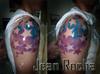 Tattoo estrelas coloridas
