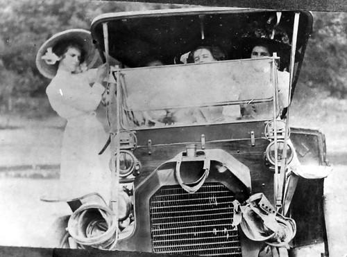 Browne Family Auto Accident, c.1914, E-M-F Automobile, Talladega, Alabama