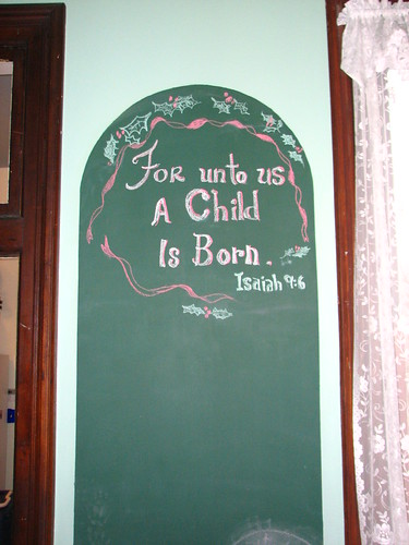 chalkboard in the music room