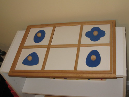 DIY Geometric Shapes (Photo from OurMontessoriHome.wordpress.com)