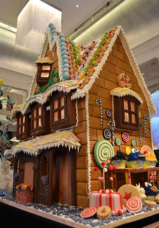 The Langham London, gingerbread house