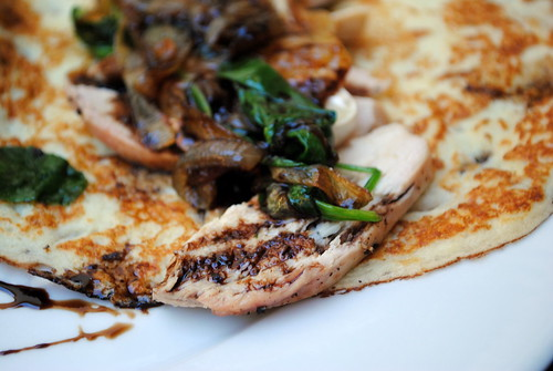 Savory Crepes with Spinach, Caramelized Onions & Brie (Gluten Free!)
