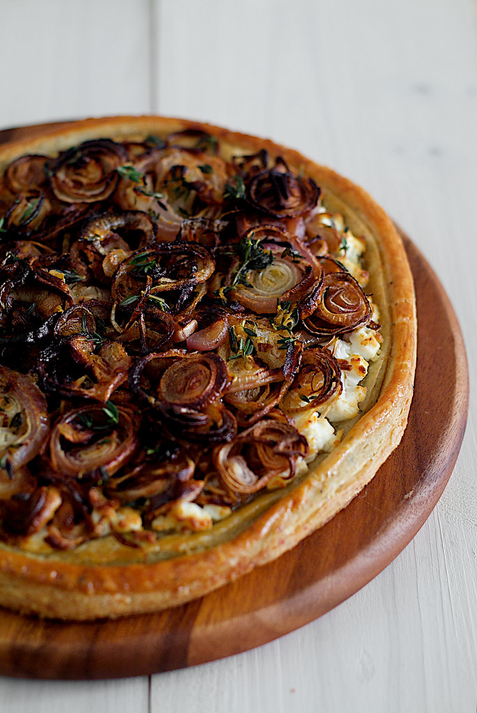 Roast Onion Shallot Tart