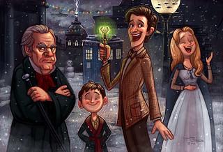 Dr Who Christmas Carol.Doctor Who Christmas Carol Some Geeky Holiday Fan Art