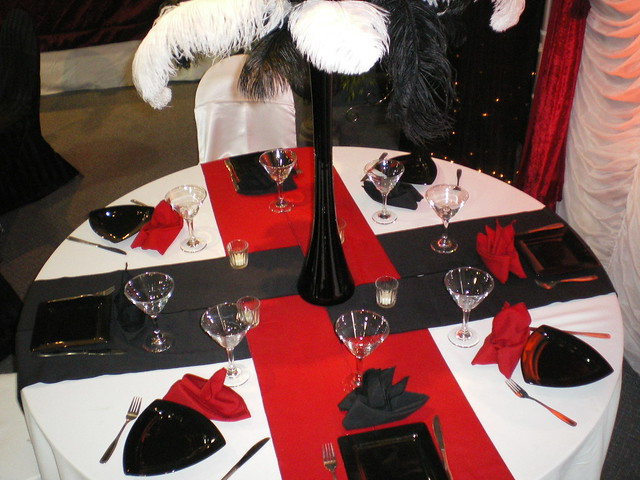 White Black And Red Wedding Decor Flickr Photo Sharing