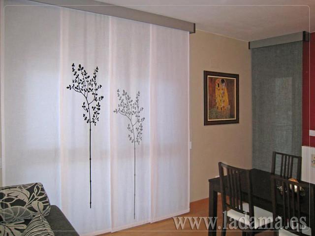 Decoraci n para salones modernos cortinas paneles japoneses estores enrollables flickr - Cortinas de paneles japoneses ...
