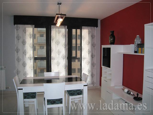 Decoraci n para salones modernos cortinas paneles - Cortinas panel japones fotos ...