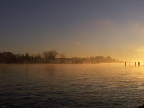 morning light sun seascape water fog dawn maryland chesapeake konicaminoltadimagez6 solomonsmaryland digitography