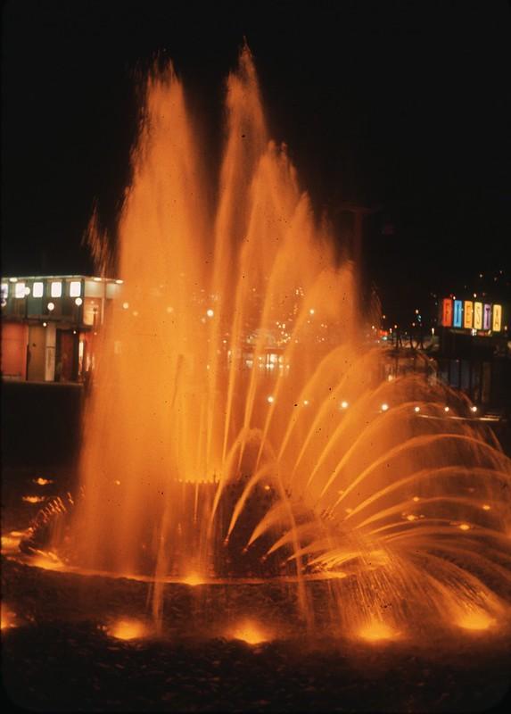 International Fountain at night, 1962