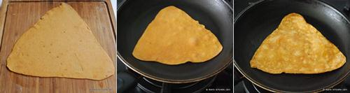 how to make triangle paratha 3