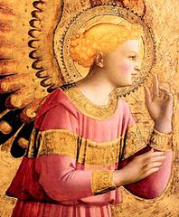 Beato Angélico (1431), San Gabriel arcángel anuncia a la Virgen