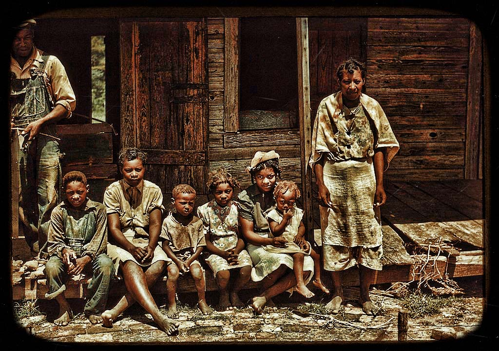 A Black Family Portrait in Natchitoches, Louisiana in August, 1940