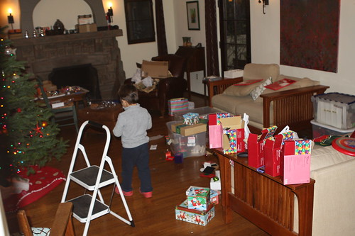Christmas decorating chaos