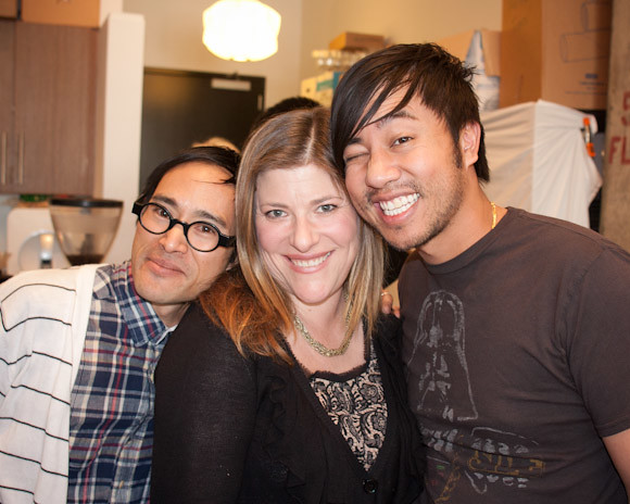 Ted, Julie Wolfson (Coolhunting), and Nguyen (Starry Kitchen)