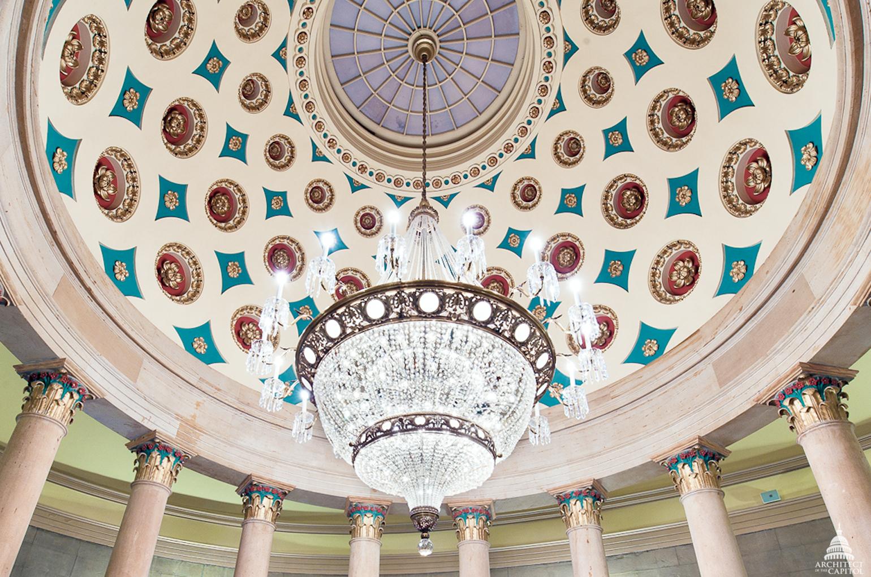 Small Senate Rotunda Chandelier Architect Of The Capitol - Us capitol interior map
