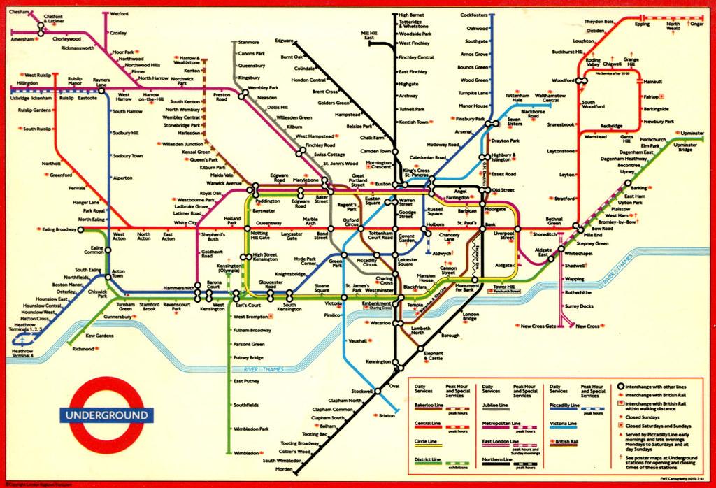 Undeground Map Of London.London Underground Map 1994 Map Of The London Undergroun Flickr