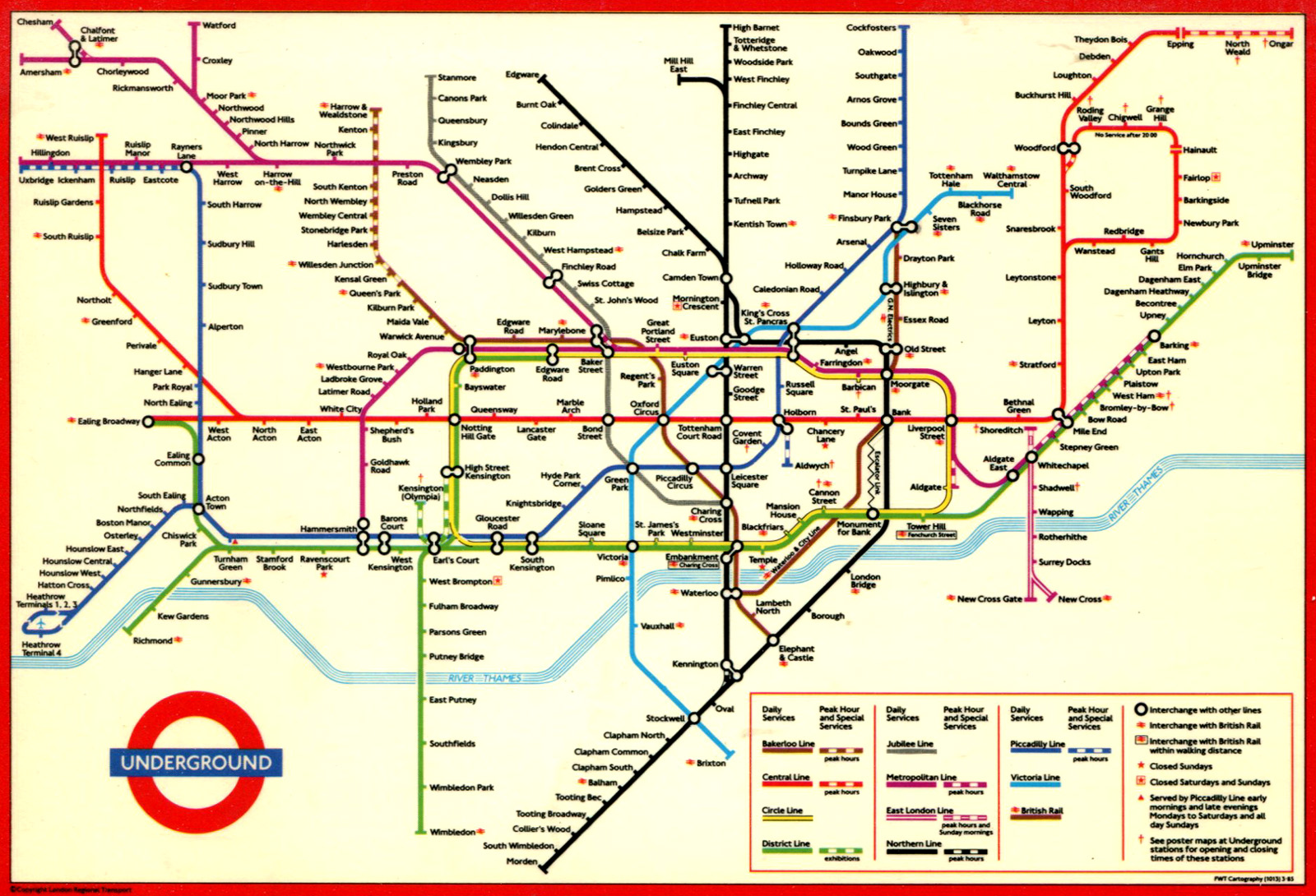 Printable London Subway Map.A Side Effect Of London S Bakerloo Tube Extension Easier Breathing