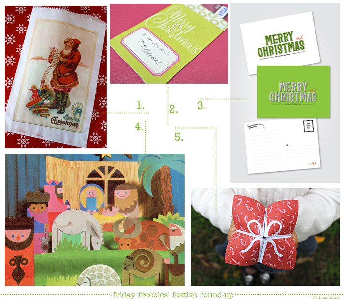 {friday freebies} a very merry festive round-up