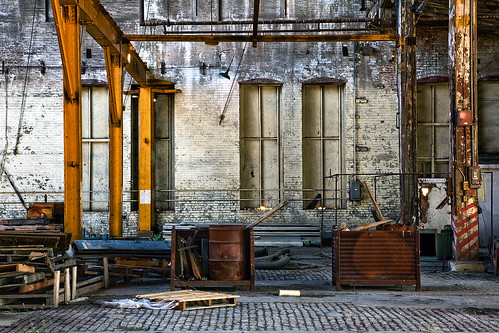Abandoned Locomotive Workshop View 2 by Whitney Lake