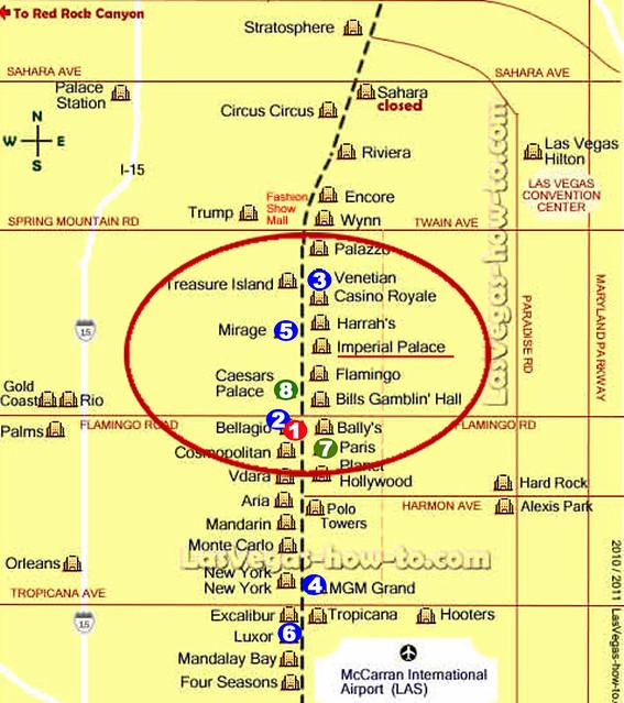 Карта Лас-Вегас