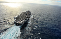 In this file photo, aircraft carrier USS Abraham Lincoln (CVN 72) transits through the Pacific Ocean Dec. 16. (U.S. Navy photo by Mass Communication Specialist Seaman Zachary S. Welch)