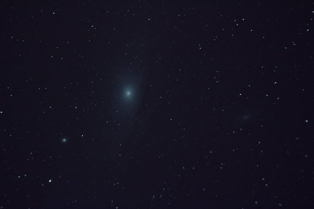 Andromeda Galaxy through a Telescope - Pics about space