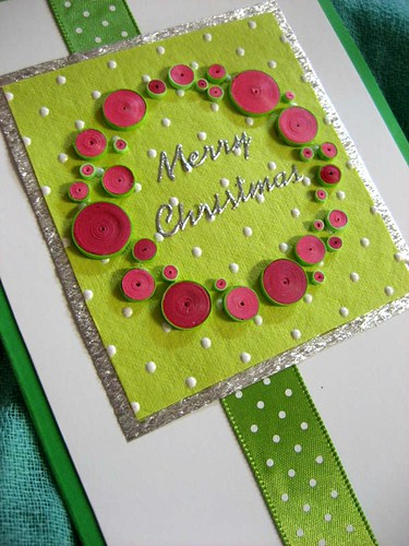 Quilled wreath card