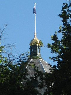The Royal Exhibition Building's Dome and Flagpole - Melbourne