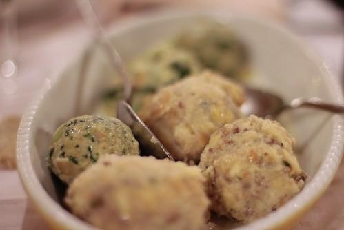 Hotel Cevedale dinner - canederli