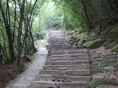 黄山 雲谷寺側登山道