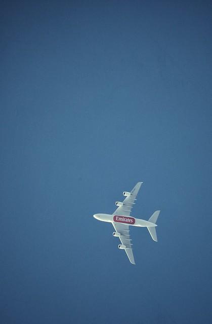 Plane over NYC