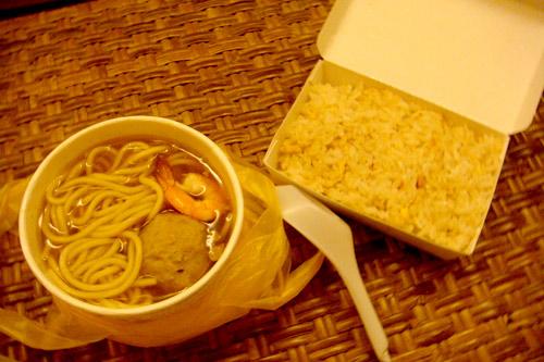 担仔麵、蝦米飯