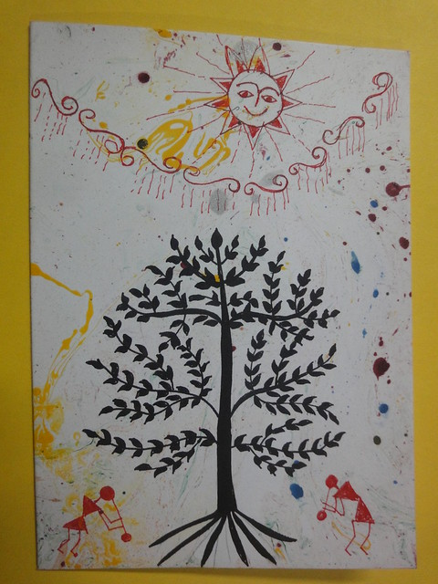 Warli Inspired New year card 4